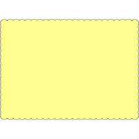 "Yellow 10"" x 14"" Placemats - Case of 1000"