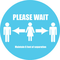 """Please Wait"" Decals 15"" (pack of 10)"
