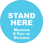 """Stand Here"" Floor Decals 15"" (pack of 10)"