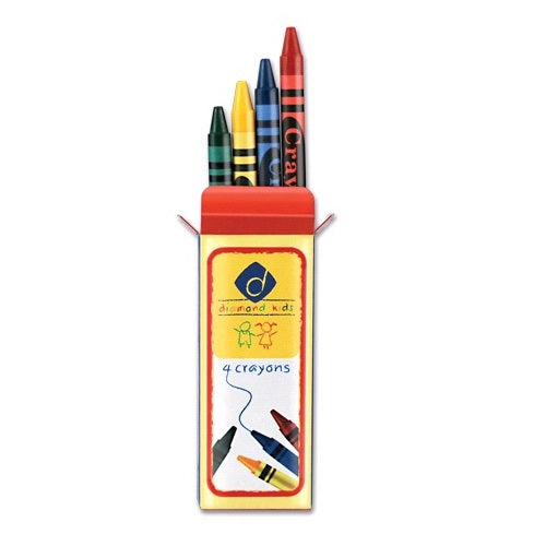 Kid's Crayons - 4 Piece Set - Case of 360 boxes