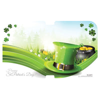 "St Patrick's Day 12"" x 19-5/8"" One-Piece Hot/Cold Traycovers - Pack of 100"