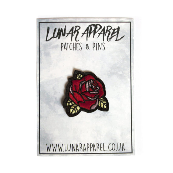 Rose Flower Head Patch (Iron on) - Lunar Apparel - Alternative Pop-Punk Clothing