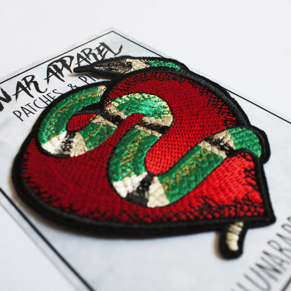 Snake Heart Patch (Iron on)