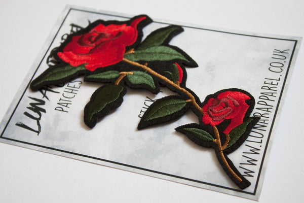 Rose Flower Patch (Iron on)