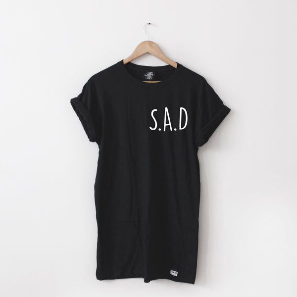 SAD Long-Line Tee - Lunar Apparel - Alternative Pop-Punk Clothing