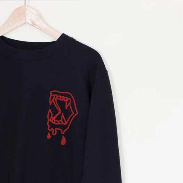Fangs Sweater - Lunar Apparel - Alternative Pop-Punk Clothing