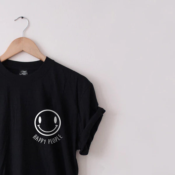 Happy People Tee - Lunar Apparel - Alternative Pop-Punk Clothing