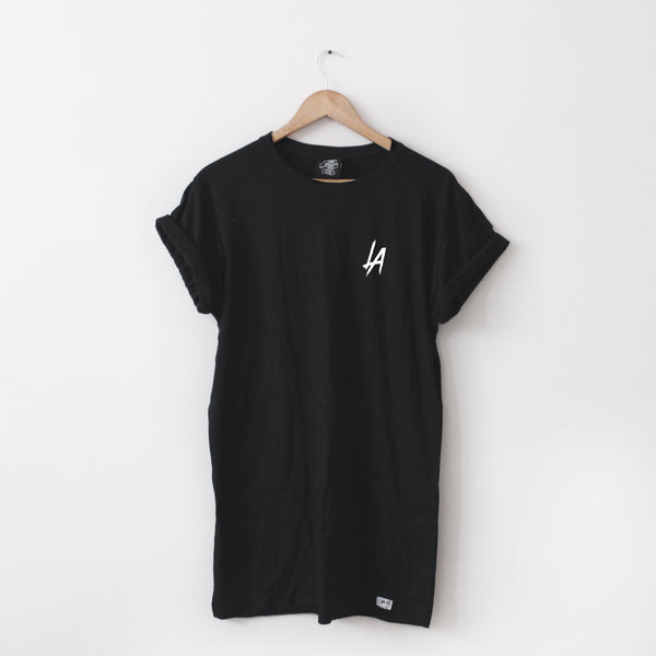 LA Long-Line Tee - Lunar Apparel - Alternative Pop-Punk Clothing