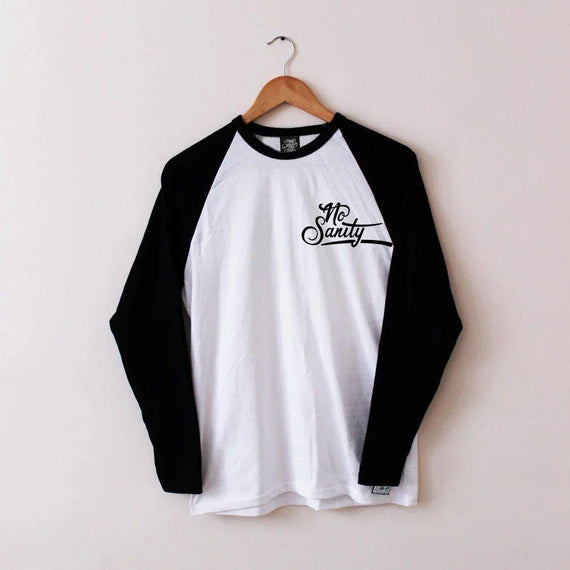 No Sanity Baseball Tee - Lunar Apparel - Alternative Pop-Punk Clothing