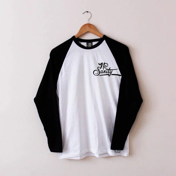 No Sanity Baseball Tee