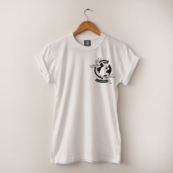 Globe Tee - Lunar Apparel - Alternative Pop-Punk Clothing