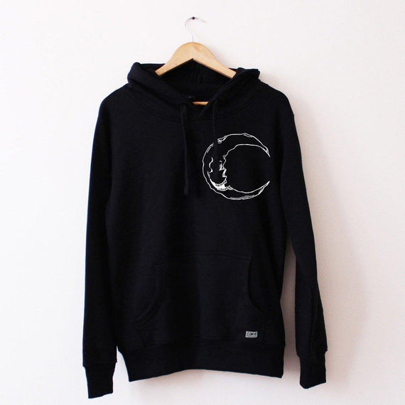 Moon Hoodie (Left Breast) - Lunar Apparel - Alternative Pop-Punk Clothing