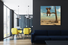 Load image into Gallery viewer, Elephant Sits On Tree Branch - Wrapped Canvas Art