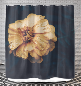 Vintage Hibiscus Flower - Shower Curtain