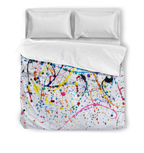 Load image into Gallery viewer, Splattered Paint - Duvet Cover