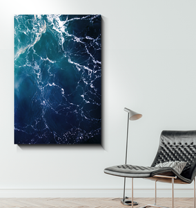 Waves From Above - Wrapped Canvas Art
