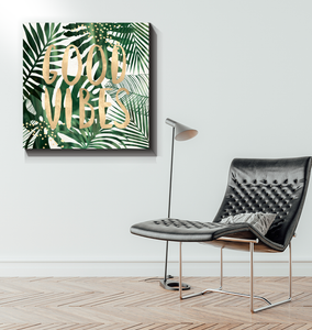 Good Vibes - Wrapped Canvas Art