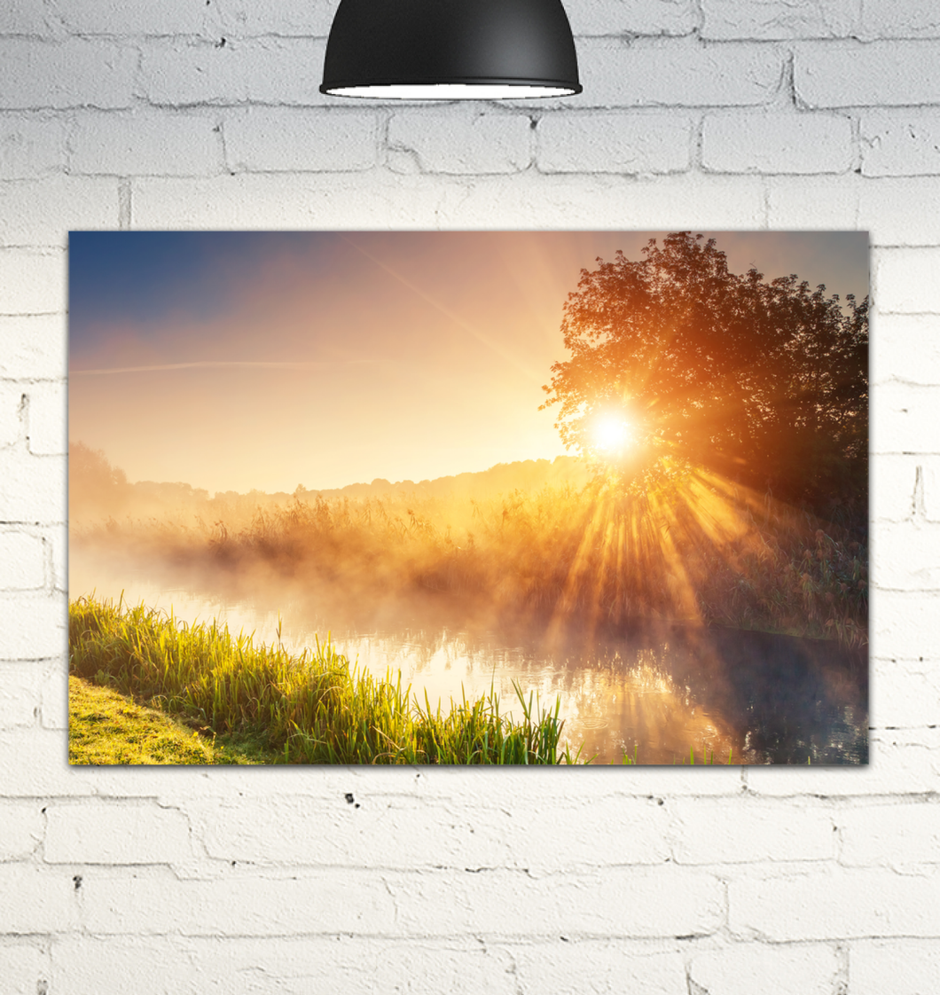 Morning Mist - Wrapped Canvas Art