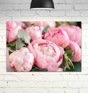 Pink Peony Bouquet - Wrapped Canvas Art