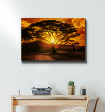 Load image into Gallery viewer, African Sunset - Wrapped Canvas Art