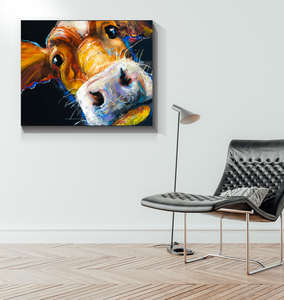 Cow Face - Wrapped Canvas Art