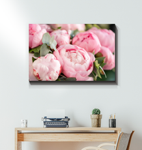 Load image into Gallery viewer, Pink Peony Bouquet - Wrapped Canvas Art