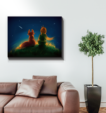 Load image into Gallery viewer, The Little Prince And The Fox - Wrapped Canvas Art