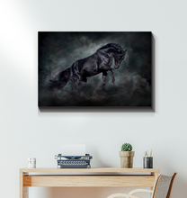 Load image into Gallery viewer, Black Stallion - Wrapped Canvas Art