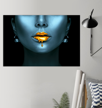 Load image into Gallery viewer, Gold Lips - Poster Art