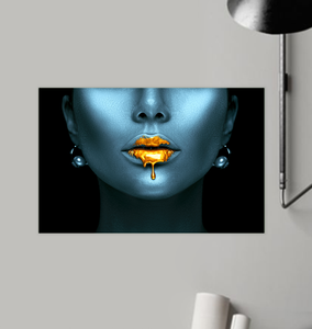 Gold Lips - Poster Art