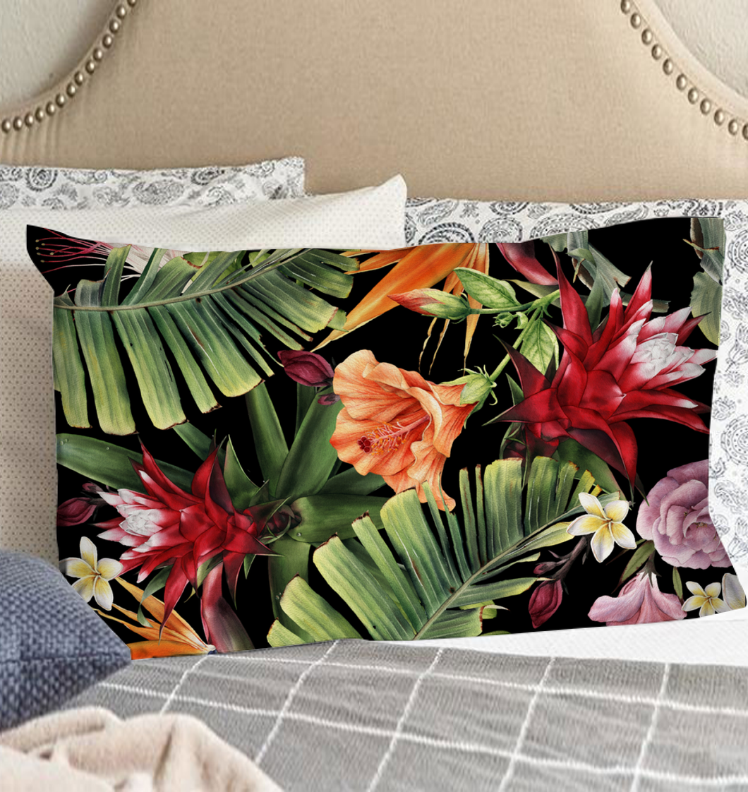 Tropical Flowers - Pillow Case