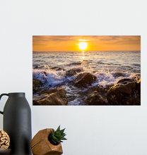 Load image into Gallery viewer, Waves Crashing On Rocks - Poster Art