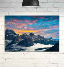 Load image into Gallery viewer, Rocky Mountain Sunset - Wrapped Canvas Art