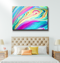 Load image into Gallery viewer, Rainbow Marble Swirls - Wrapped Canvas Art