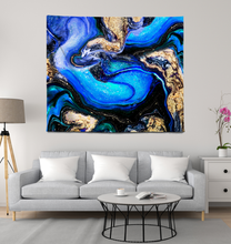 Load image into Gallery viewer, Blue Abstraction - Wall Tapestry