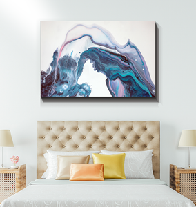 Abstract Water Fountain - Wrapped Canvas Art