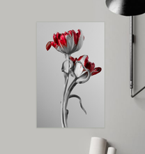 Load image into Gallery viewer, Red And Grey Tulips - Poster Art