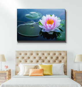 Lotus Flower And Lily Pads - Wrapped Canvas Art