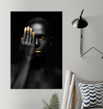 Load image into Gallery viewer, Black And Gold Woman - Poster Art