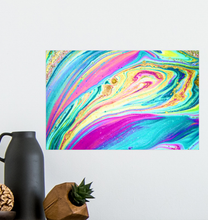 Load image into Gallery viewer, Rainbow Marble Swirls - Poster Art