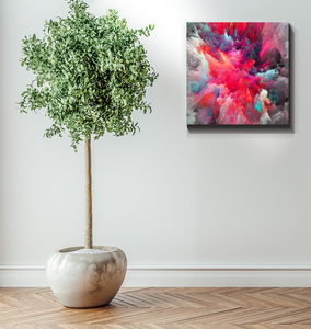 Clouded Colorfully - Wrapped Canvas Art