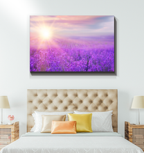 Load image into Gallery viewer, Lavender Field At Sunset - Wrapped Canvas Art