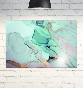 Abstract Marble - Wrapped Canvas Art