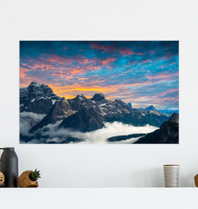 Rocky Mountain Sunset - Poster Art