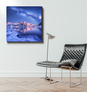 Milky Way In The Arctic - Wrapped Canvas Art