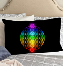Load image into Gallery viewer, Chakra Flower Of Life - Pillow Case