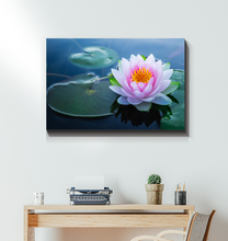 Load image into Gallery viewer, Lotus Flower And Lily Pads - Wrapped Canvas Art