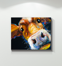 Load image into Gallery viewer, Cow Face - Wrapped Canvas Art