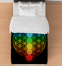 Load image into Gallery viewer, Chakra Flower Of Life - Comforter