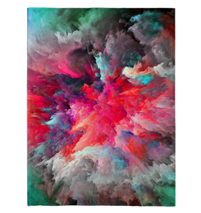 Clouded Colorfully - Fleece Blanket